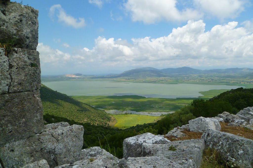 Voulkania lake from Palairos'castle-Hellas