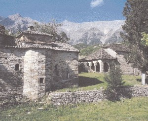 The monastery complex of Ag. Georgiou at Myrofyllo. It includes three churches, George, the Virgin Mary and the Chapel of the Taxiarches, arched cells, and the tower and tower. They will immerse themselves in the waters of the artificial lake Sykia, which is built for the deflection of Acheloos. Along with the buildings will be lost the unique frescoes of Samarinian painters Athanasius and Georgiou who adorn the katholikon from 1869.