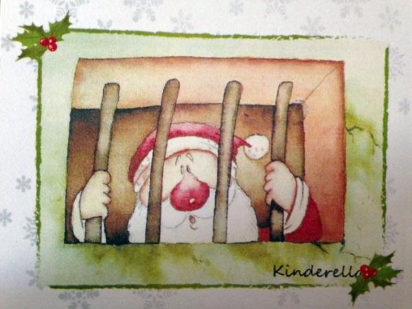 """""""Père Noël en prison"""" à l'école spéciale 2 à Agrinio"""