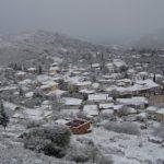 Εικόνες από το χιονισμένο Αρχοντοχώρι Ξηρομέρου