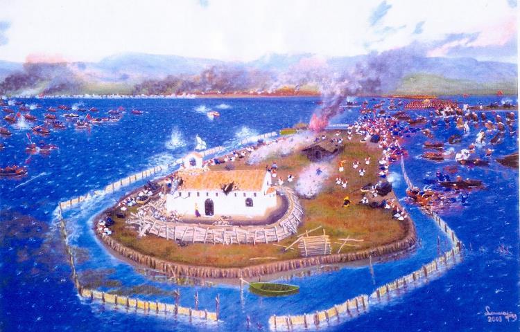 Η μάχη της Κλείσοβας, Α.Σακκαλής, Πινακοθήκη Δήμου Ιεράς Πόλεως Μεσολόγγιου