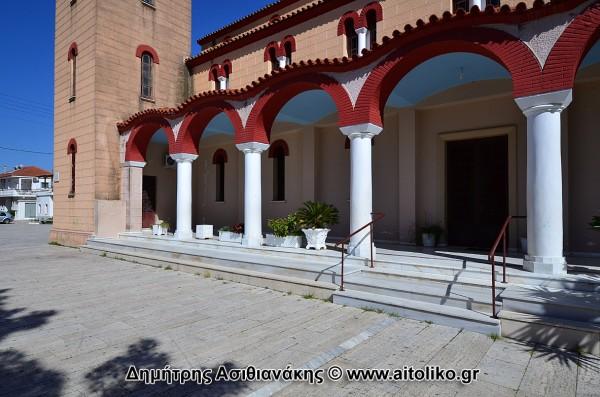 L'église de Panagia à Aetolikos où a eu lieu le procès de Karaiskakis