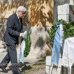 Ο Προκόπης Παυλόπουλος κατέθεσε στεφάνι στη προτομή του Μεσολογγίτη Σπύρου Μουστακλή