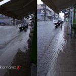 Η κακοκαιρία πλημμύρισε ξανά τους δρόμους του Μεσολογγίου!