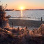 Το εντυπωσιακό ηλιοβασίλεμα με τους ιστούς αράχνης στο Αιτωλικό