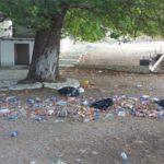 Το πανηγύρι έφυγε, τα σκουπίδια έμειναν στο εξωκλήσι της Αγιά Αγάθης