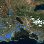 Οι πλημμυρισμένες εκτάσεις στο Μεσολόγγι με χρήση δορυφορικής τηλεπισκόπησης