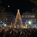 Φωταγωγήθηκε το Χριστουγεννιάτικο δέντρο στο Αγρίνιο