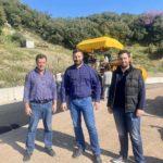 Αυτοψία Θανάση Μαυρομμάτη σε έργα στο οδικό δίκτυο της Μακρυνείας
