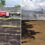 Κάηκε ολοσχερώς το γήπεδο του Αιτωλικού!