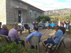Συνάντηση Θάνου Μωραΐτη με τα μέλη του Συλλόγου Ελαιοπαραγωγών Αιτωλικού
