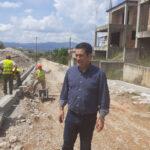 Επίσκεψη Γιώργου Παπαναστασίου σε έργα κατασκευής δρόμων και δικτύων ύδρευσης-αποχέτευσης