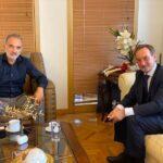 Συνάντηση Μάριου Σαλμά με τον Πρέσβη της Τσεχίας