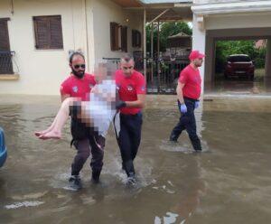 Καθοριστική η συμβολή της Ε.Ο.Ε.Δ. Μεσολογγίου στην αντιμετώπιση της πλημμύρας