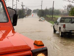 Εκτός ελέγχου η κατάσταση από τη σφοδρή κακοκαιρία στο Δήμο Αγρινίου