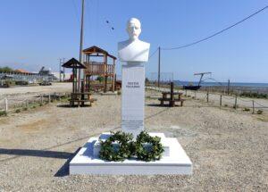 Η προτομή του Κωστή Παλαμά κοσμεί το Μουσείο Άλατος στο Μεσολόγγι