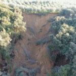 Κατολίσθηση στην περιοχή του Αμπελακίου προκαλεί ανησυχία στους κατοίκους