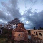 Η δύση του ηλίου από το ιστορικό μοναστήρι του Αγίου Συμεών στο Μεσολόγγι