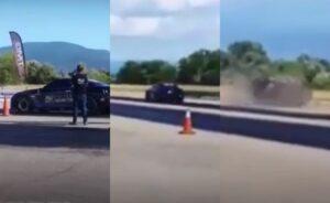Νεκρός οδηγός σε αγώνες dragster στο Αγρίνιο (vid)