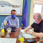 Επί τάπητος μεγάλα αναπτυξιακά έργα στη συνάντηση Φαρμάκη-Λύρου