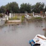 «Πνίγηκαν» οι τάφοι στο κοιμητήριο του Νεοχωρίου!